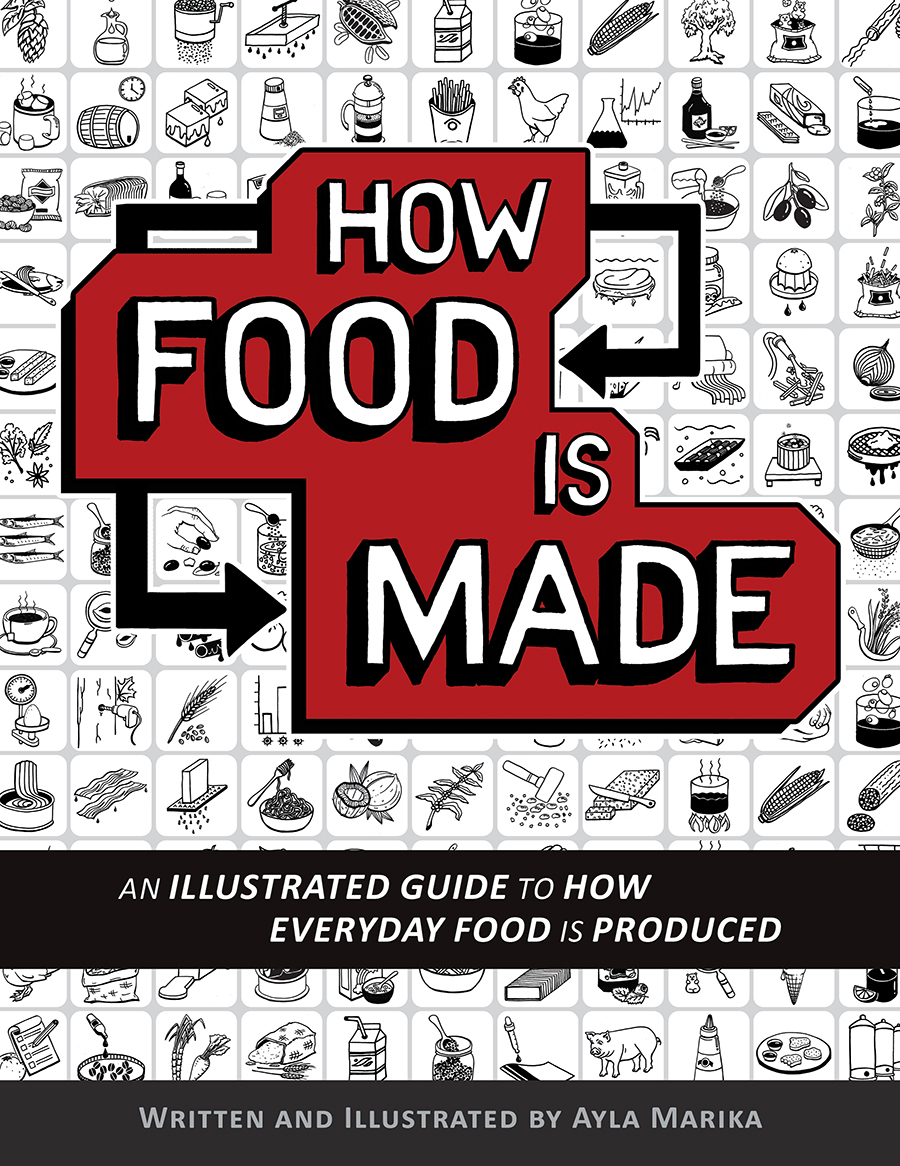 How Food is Made food infographics book