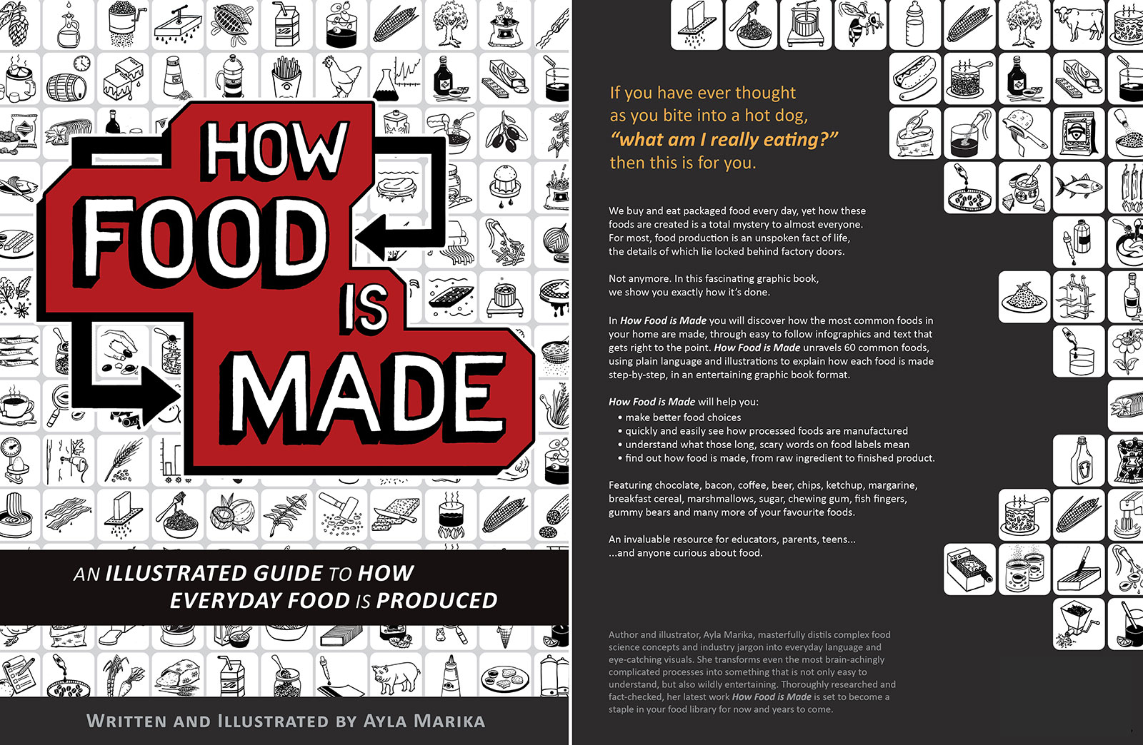 how food is made book covers